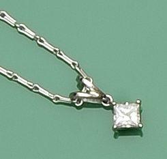 A single stone diamond pendant