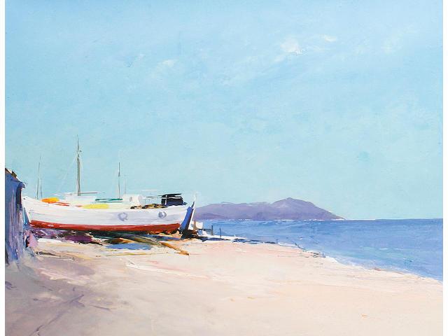 Donald Hamilton Fraser (British, 1929-2009) Boatyard, Ierissos