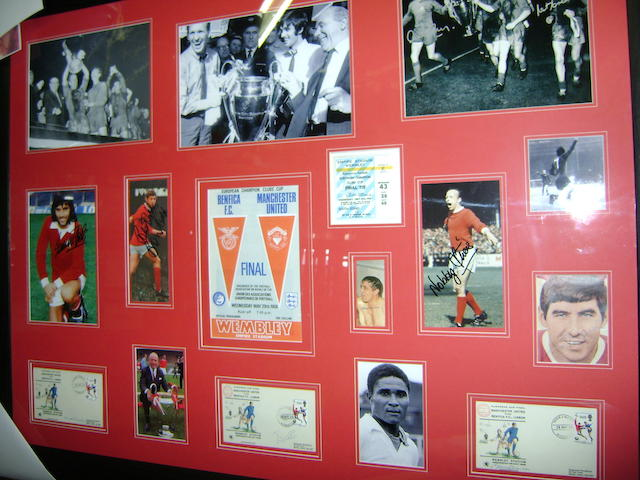 1968 Manchester United European Cup hand signed montage