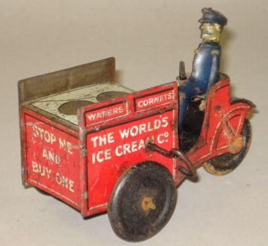 Rare Wells c/w 'Stop Me and Buy One' ice cream carrier, circa 1930