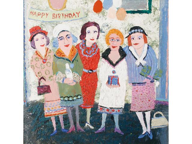 Fred Yates (British, 1922-2008) The birthday party