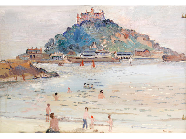 Fred Yates (British, 1922-2008) St Michael's Mount, Cornwall