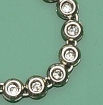 A diamond rivière necklace
