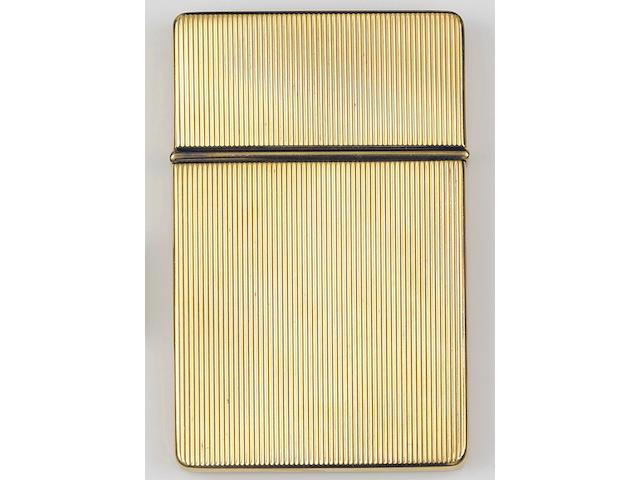 A gold card case