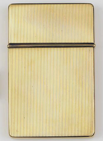 A gold card case