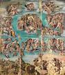 Flemish School, late 16th Century The Last Judgement unframed