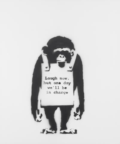 Banksy (British, born 1975) 'Laugh Now', 2002