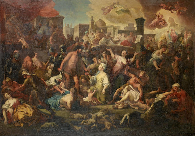 Neapolitan School, ? The Massacre of the Innocents  200 x 180 ca