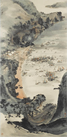 Liu Shou Kwan, Tin Hau Festival, watercolour