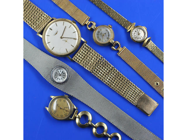 A collection of five wristwatches 5