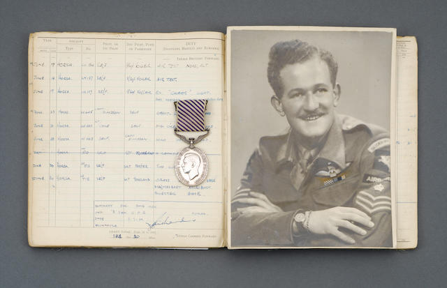 A Second World War Rhine Crossing D.F.M. group of five to Staff Sergeant Richards, Glider Pilot Regiment,