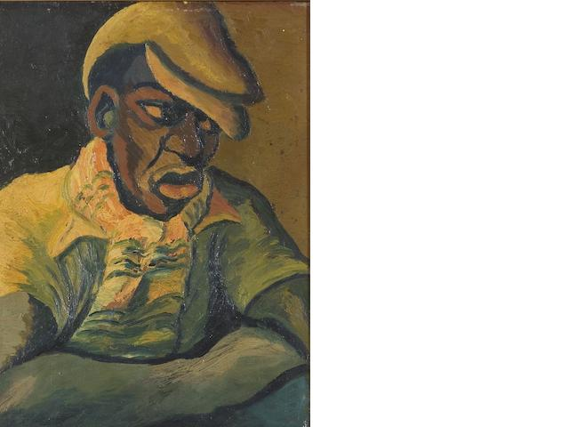 Gerard Sekoto (South African, 1913-1993) Boy with a yellow cap