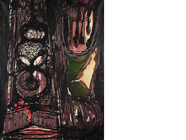 Claude Viseux (French, born 1927) Montenya 97cm x 132cm.