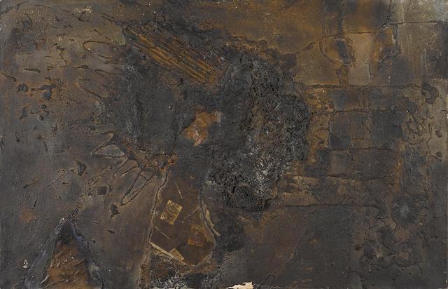 Igael Tumarkin (Israeli, born 1933) Contempary view 61cm x 91cm.
