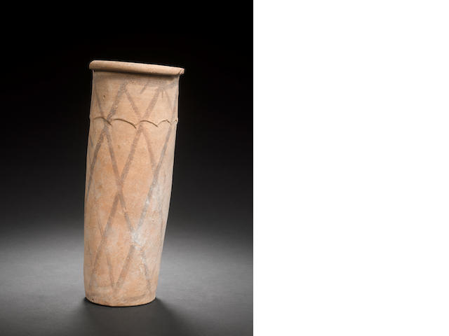 An Egyptian Predynastic cylindrical pottery jar