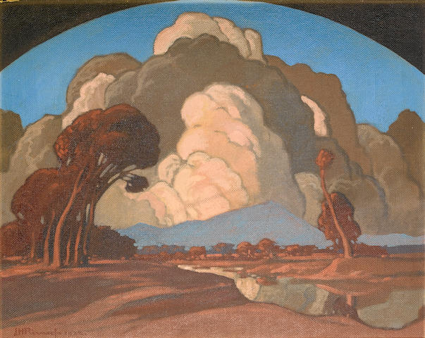 Jacob Hendrik Pierneef (South African, 1886-1957) Apies River, Pretoria, with Meintjeskop beyond