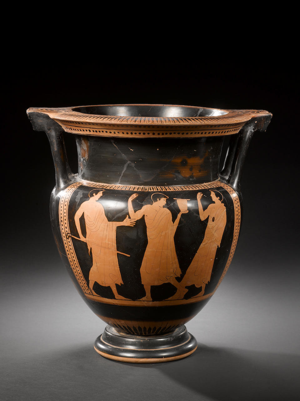 A large Attic red-figure column krater