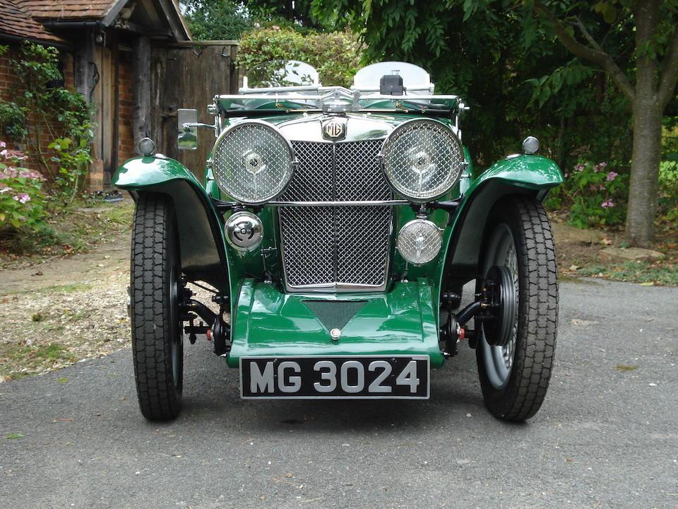 1933 MG Midget J2 Roadster  Chassis no. J 3571 Engine no. 2498 AJ