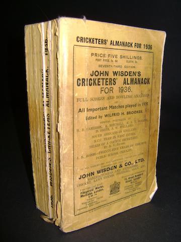 1936 Wisden cricket almanack