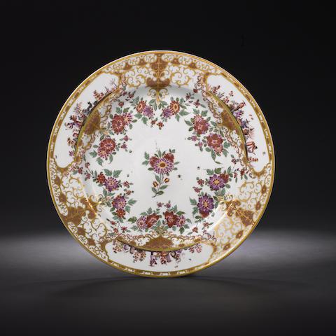 A very rare Meissen circular stand circa 1725-30