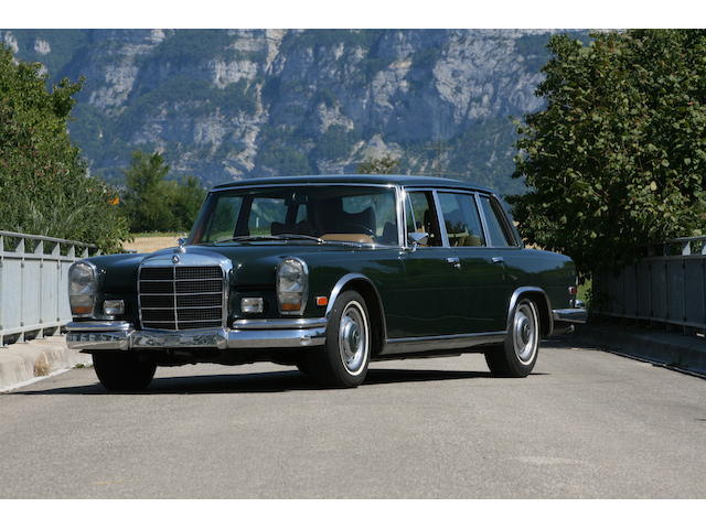 One owner from new,1969 Mercedes 600  Chassis no. 10001212001197 Engine no. 10098012001250