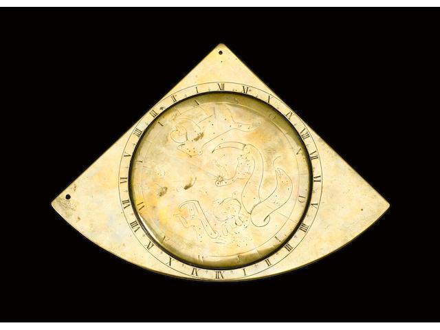 A Henry Wynne brass quadrant