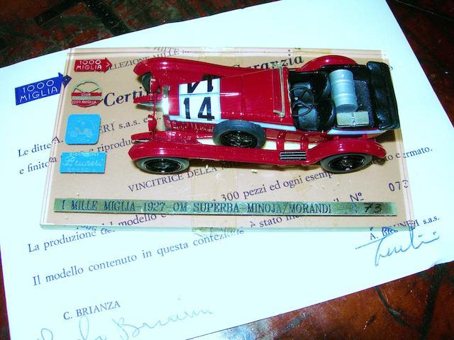 A Mille Miglia 1927 OM model by Carlo Brianza,