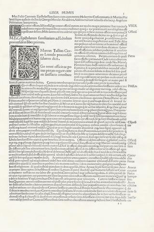 CICERO (MARCUS TULLIUS) Epistolae ad familiares [with commentaries by Hubertinus, Martinus Phileticus, Merula and Politianus]