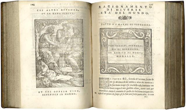 DONI (ANTONIO FRANCESCO) I marmi del Doni, 4 parts in one vol.