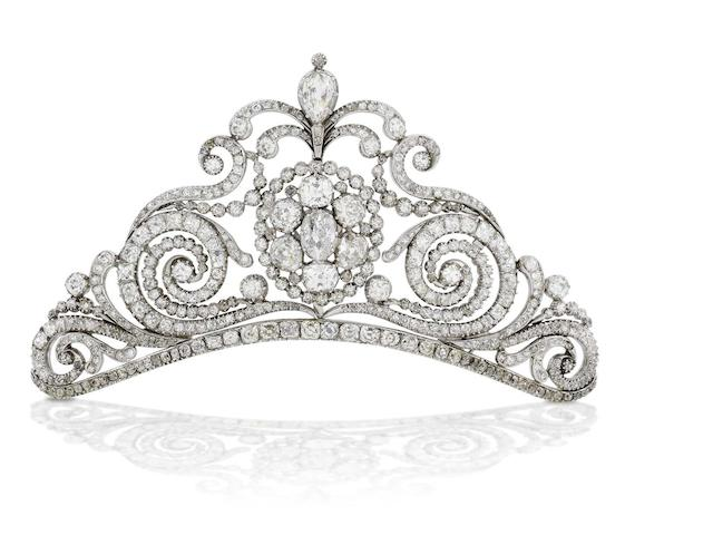 An early 19th century diamond tiara,