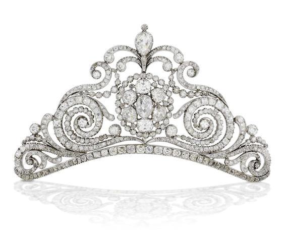 An early 19th century diamond tiara,
