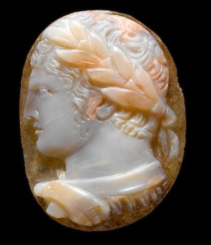 A Roman sardonyx cameo of Caracalla