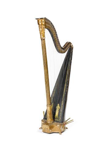 A single action Grecian Harp by John Egan, Dublin, circa 1820 (2)