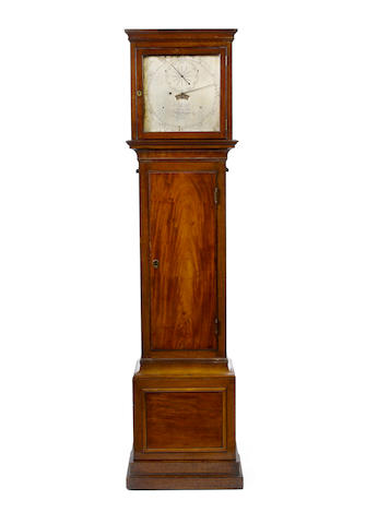 A fine and rare late 18th century mahogany month duration floorstanding regulator of exceptional provenance Arnold, London, Number 33