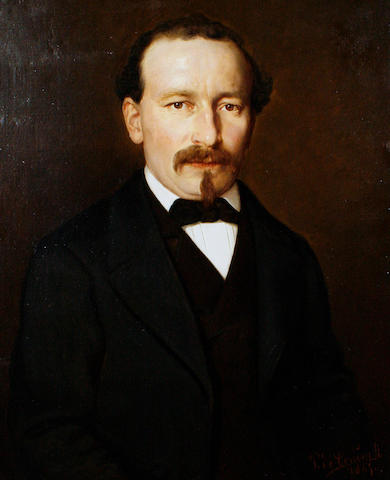 Pierre Louis de Coninck (French, 1828-1910) Portrait of a gentleman