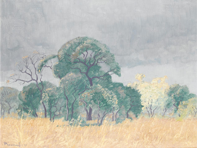 Jacob Hendrik Pierneef (South African, 1886-1957) Bushveld landscape, Transvaal