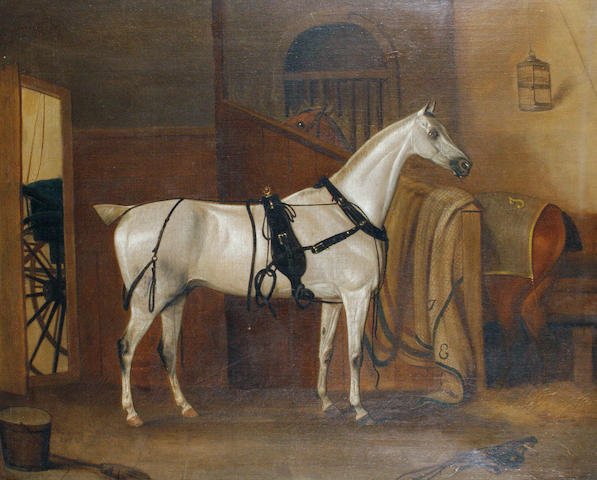 Thomas Weaver (British, 1774-1843) Horses in a stable