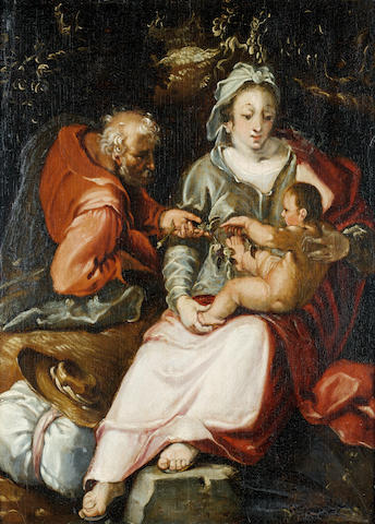 After Cornelis Cornelisz van Haarlem, ? Century The Rest on the Flight into Egypt