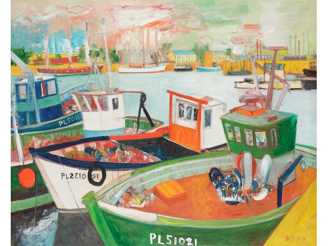 John Bellany, CBE RA HRSA LLD(Lon) (British, born 1942) Harbour Paimpol Brittany