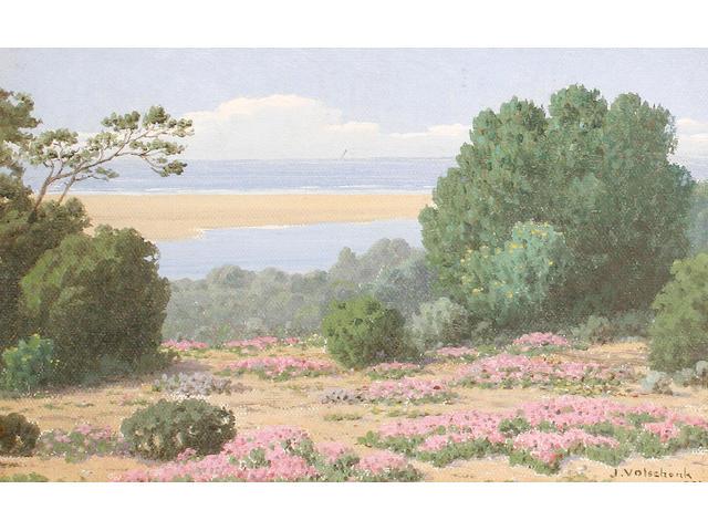 Jan Ernst Abraham Volschenk (South African, 1853-1936) 'Sand-Vygies, Stillbay, Riversdale'
