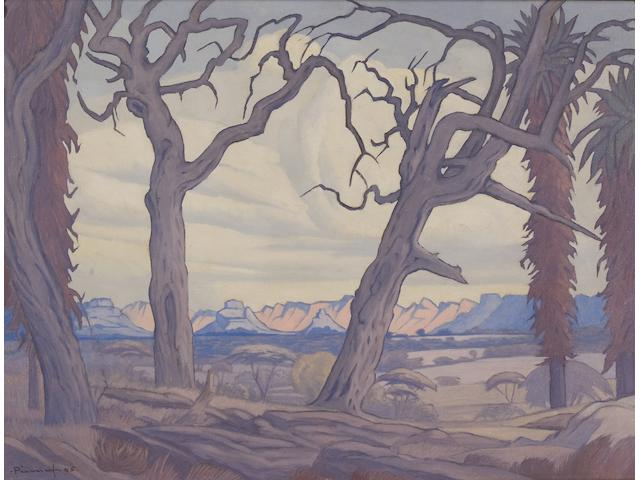 Jacob Hendrik Pierneef (South African, 1886-1957) Lowveld, Mica, Eastern Transvaal