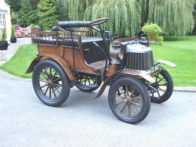 The ex-Pictom Bradshaw of Dublin, Paul Egestorff and Killarney Motor Museum,1901 Argyll 5hp Spindle Seat Rear Entrance Tonneau  Chassis no. 106 Engine no. 1334