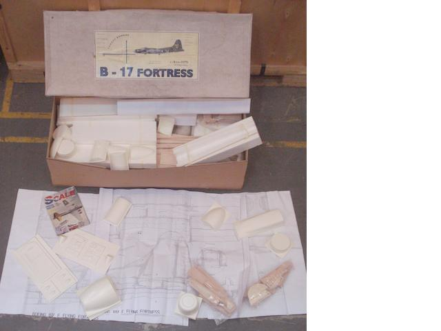 A Boeing B-17 F Fortress Bomber 1:12 flying scale model kit, by Aerotech International,