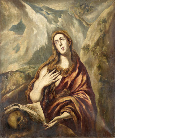 Follower of El Greco (Candia 1541-1614 Toledo) Mary Magdalene