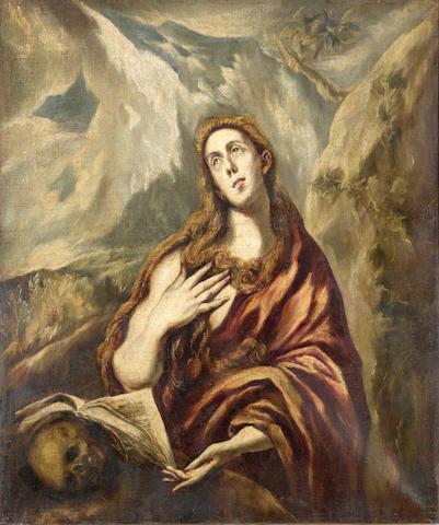 Follower of El Greco (Candia 1541-1614 Toledo) The Penitent Magdalene