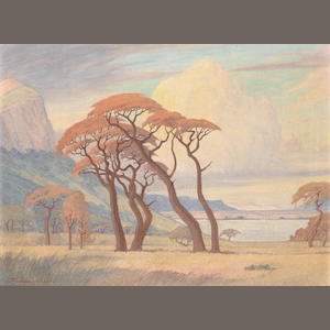 Jacob Hendrik Pierneef (South African, 1886-1957) Hartbeespoortdam