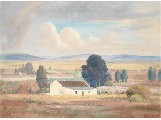 Jacob Hendrik Pierneef (South African, 1886-1957) Farmhouse