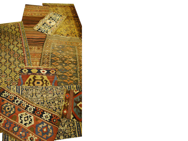 A collection of rugs