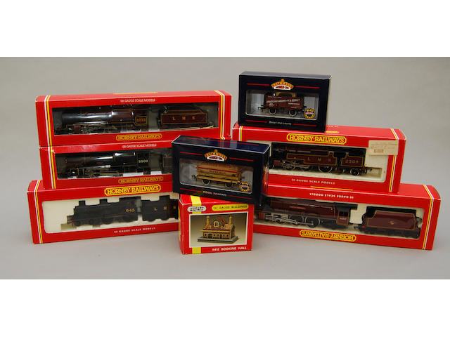 A large collection of boxed Hornby trains