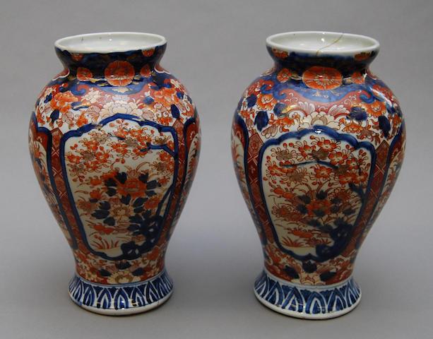 A pair of 19th Century Imari vases